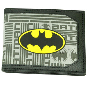 DC Comics Batman Dark Knight Superhero Canvas Bi Fold Mens Money Wallet Black