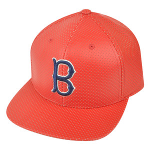 MLB American Needle Boston Red Sox Delirious Faux Leather Snapback Pinholes Hat