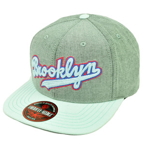MLB American Needle Brooklyn Dodgers South Beach Clip Buckle Hat Cap Grey Blue