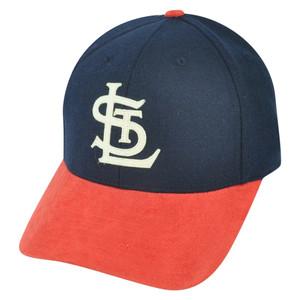 MLB American Needle St Louis Cardinals Vault Faux Suede Wool Strapback Hat Cap
