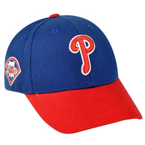MLB Fan Favorite Philadelphia Phillies Adjustable Velcro Baseball Blue Hat Cap
