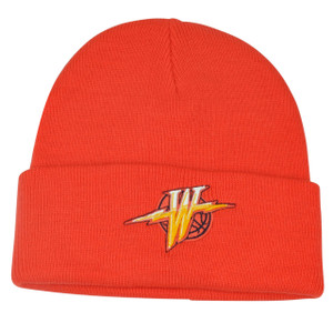NBA Adidas Golden State Warriors Vintage Old Logo Cuffed Knit Beanie Hat Orange