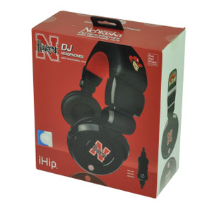 NCAA Nebraska Cornhuskers DJ Style Headphones Music Loud Iphone Microphone Black
