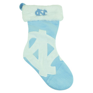 NCAA North Carolina Tar Heel Christmas Holiday Hanging Sock Stocking Gift Velvet
