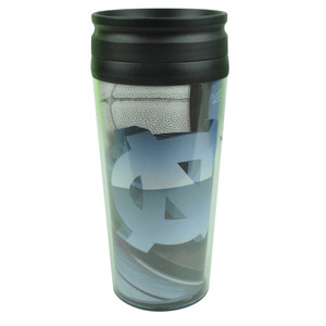 NCAA North Carolina Tar Heels Acrylic Travel Tumbler 16 Oz Mug Coffee Drink Cups