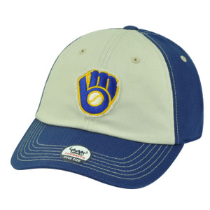 MLB Fan Favorite Milwaukee Brewers Two Tone Freshman Sun Buckle Hat Cap Patch