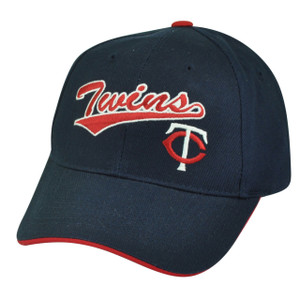 MLB Minnesota Twins Fan Favorite Adjustable Velcro Navy Blue Hat Cap Twinkies
