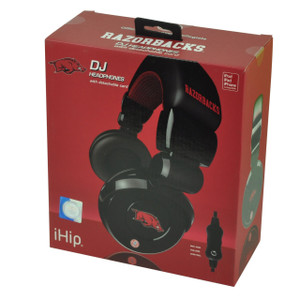 NCAA Arkansas Razorbacks DJ Style Headphones Music Loud Iphone Microphone Black