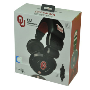 NCAA Oklahoma Sooners DJ Style Headphones Music Loud Iphone Microphone Black