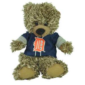 "MLB Detroit Tigers Blue Hoodie Stuffed Plush Mini Teddy Bear 9"" Small Gift Brown"