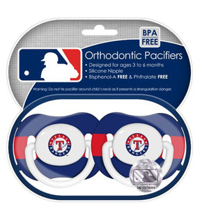 MLB Texas Rangers Orthodontic Pacifiers Infant Baby Fanatic 2 Piece Fan Game