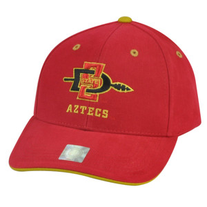NCAA San Diego State Aztecs Velcro Red Adjustable Hat Cap Captivating Headgear
