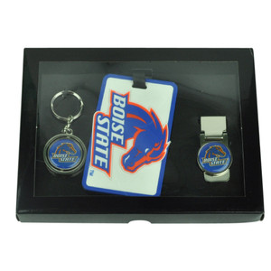 NCAA Boise State Broncos Key Chain Money Clip Id Holder Men Gift Set Blue Sport