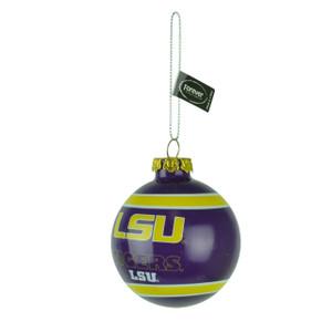 NCAA Louisiana State Tigers Glass Ball Ornament Christmas Tree Decoration LSU