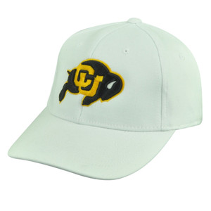 NCAA Colorado Buffaloes Top of the World Flex Fit One Size White Stretch Hat Cap