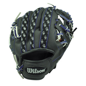 MLB Colorado Rockies Baseball 10' Tee Ball Glove Wilson Black Sport Novelty