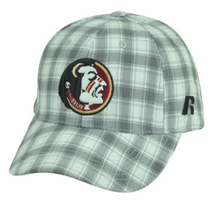 NCAA Florida State Seminoles Russell Grey Plaid Velcro Adjustable Hat Cap Caddy