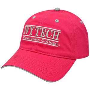 HAT CAP NCAA IVY TECH COMMUNITY COLLEGE PINK FUSCIA BAR RETRO BUCKLE THE GAME