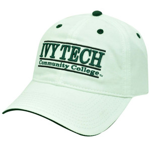 HAT CAP NCAA IVY TECH COMMUNITY COLLEGE BAR RETRO BUCKLE WHITE THE GAME