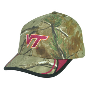 NCAA Virginia Tech Hokies Camouflage Camo Velcro Realtree Hat Cap Adjustable