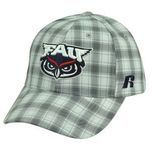 NCAA Florida Atlantic Owls Russell Grey Plaid Velcro Adjustable Hat Cap Caddy