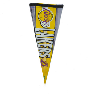 "NBA Los Angeles Lakers Felt Pennant 30""x11"" Fan Banner Room Office Game Decor LA"