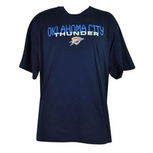 NBA Oklahoma City Thunder OKC Heritage 2XLarge XXL Tshirt Tee Navy Short Sleeve