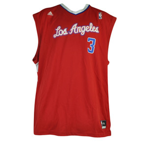 NBA Los Angeles Clipper Chris Paul 2XLarge XXL Pro Cut Mens Jersey Adidas Red