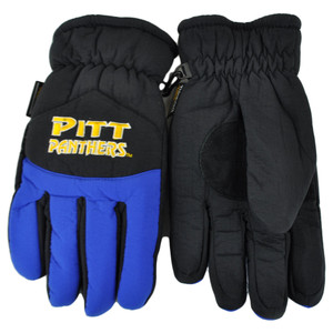 NCAA Pittsburgh Panthers Two Tone Winter Snow Ski Gloves Thermal Insulation L/XL