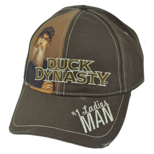 Duck Dynasty A&E TV Series Si Sublimation Ladies Man Distressed Velcro Cap Hat