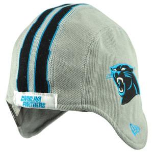 NFL New Era Carolina Panthers Pigskin Helmet Hat Knit Fleece Ear Flap Beanie