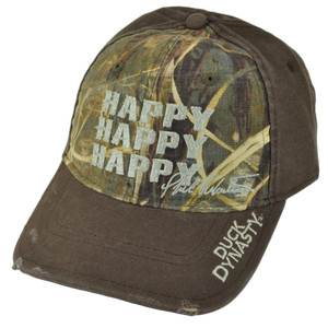 Duck Dynasty A&E TV Series Realtree Distressed Triple Happy Camo Velcro Hat Cap