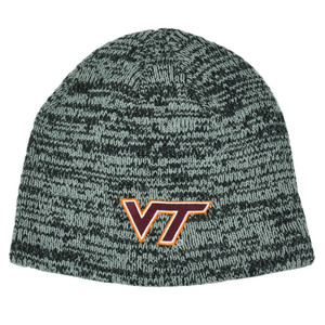 NCAA Virginia Tech Hokies Cuffless Heather Toque Knit Beanie Winter College Hat