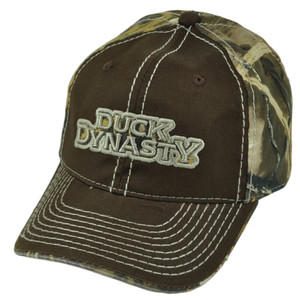 A&E Duck Dynasty Realtree Brown Contrast TV Series Velcro Swamp Camo Hat Cap