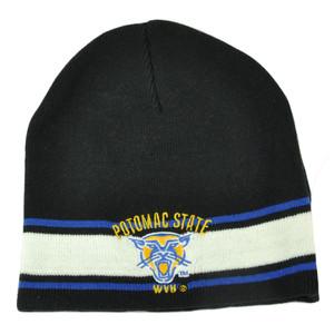 NCAA West Virginia Mountaineers Potomac State Cuffless Striped Knit Beanie Hat