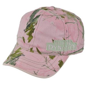 Duck Dynasty A&E TV Series Realtree Ladies Women Pink Tree Garment Wash Hat Cap