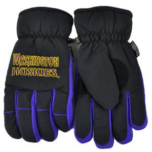 NCAA Washington Huskies Two Tone Winter Snow Ski Gloves Thermal Insulation Large