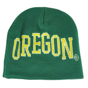 NCAA Donegal Bay Oregon Ducks Cuffless Knit Jacquard Beanie Acrylic Toque Hat