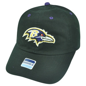 NFL Baltimore Ravens Castel Clip Buckle Black Womens Ladies Relaxed Hat Cap