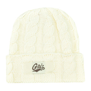 NCAA Montana Grizzlies Griz Kiera Women Ladies Cuffed Crochet Beanie Knit Hat
