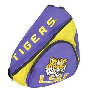 NCAA Concept One LSU Louisiana State Tigers Felt Logo Sling Back Bag Backpack