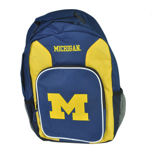 NCAA Concept One Michigan Wolverines Southpaw Felt Logo School Backpack Book Bag
