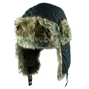 Aviator Bomber Faux Fur Blank Solid Hat Cap Ear Flap Trapper Size Large XLarge