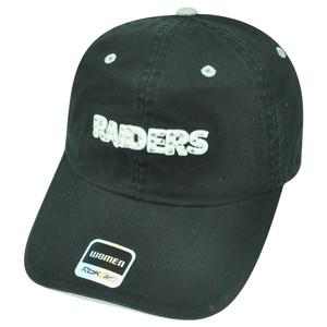 NFL Oakland Raiders Superstar Rhinestone Womens Reebok Ladies Relaxed Hat Cap