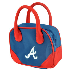 MLB Atlanta Braves Mini Bowler Hand Bag Two Tone Accessories Baseball Womens