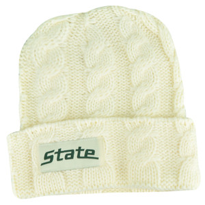 NCAA Michigan State Spartans Huskers Kiera Women Cuffed Crochet Beanie Knit Hat