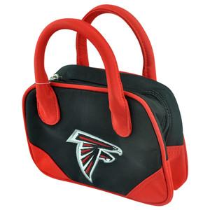 NFL Atlanta Falcons Mini Bowler Hand Bag Two Tone Accessories Football Womens