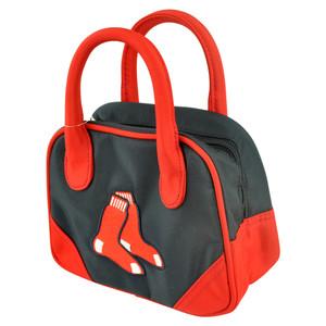 MLB Boston Red Sox Mini Bowler Hand Bag Two Tone Accessories Baseball Womens