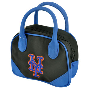 MLB New York Mets Mini Bowler Hand Bag Two Tone Accessories Baseball Womens