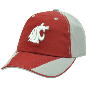 NCAA Washington Cougars Two Tone Sun Buckle Garment Washed Flip Maroon Hat Cap